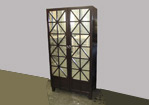 Antique Mirror Armoire