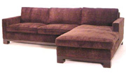 J Green Furniture Camden Chaise Sectional Block Leg Surround