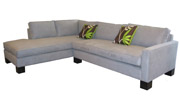 J Green Furniture Block Leg Camden Sectional